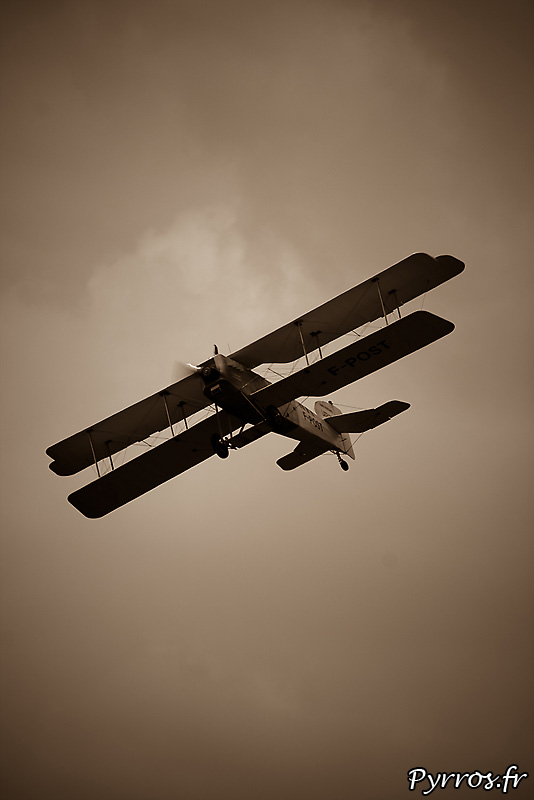 """le dernier Breguet XIV encore actif, surnommé l'avion du """"Petit Prince"""""""