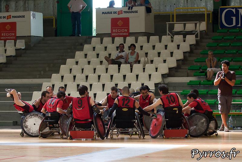 Seconde édition de la Rock N Rose Cup, au petit palais des sports de Toulouse. TEAM STADE TOULOUSAIN RUGBY HANDISPORT vs TEAM France DEVELOPPEMENT