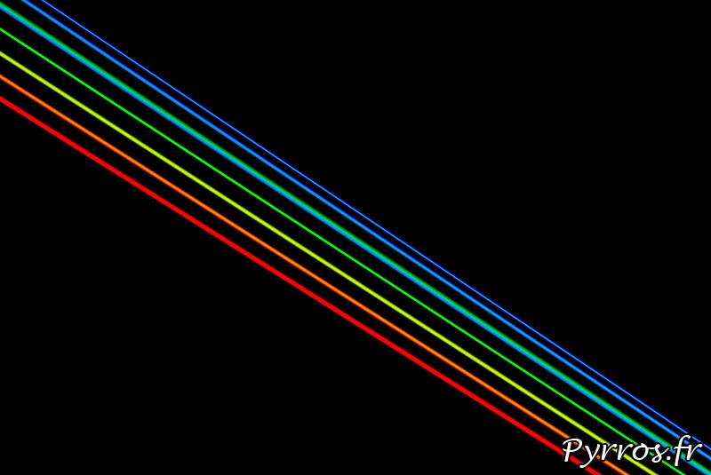Global Rainbow instalation laser par l'artiste Yvette Mattern et Laserfabrik, les 7 rayons laser
