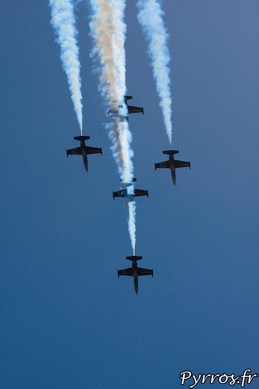 Breitling Jet Team, formation Windrider