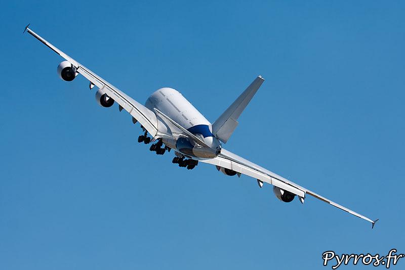 Airbus 380 F-WWDD dit Dédé, remise de gaz