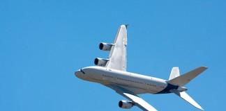 Airbus 380 F-WWDD dit Dédé, virage à gauche