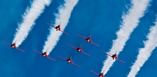 Red Arrows, en formation