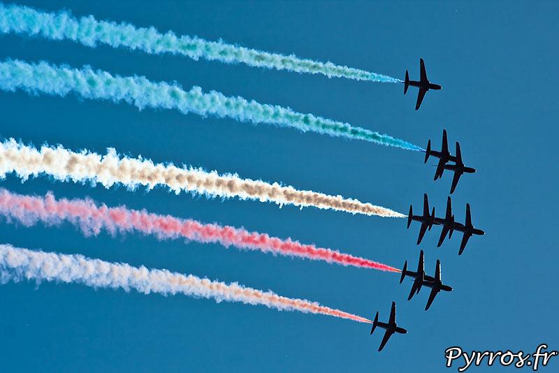 Red Arrows, en formation