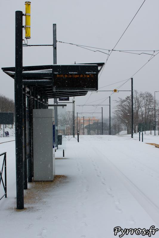 Pas de transport en commun a cause de la neige, les bus et les trams sont rentrés aux dépôts