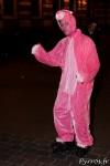 La panthère rose en roller supporter de l'équipe de hockey de Roulez Rose ?
