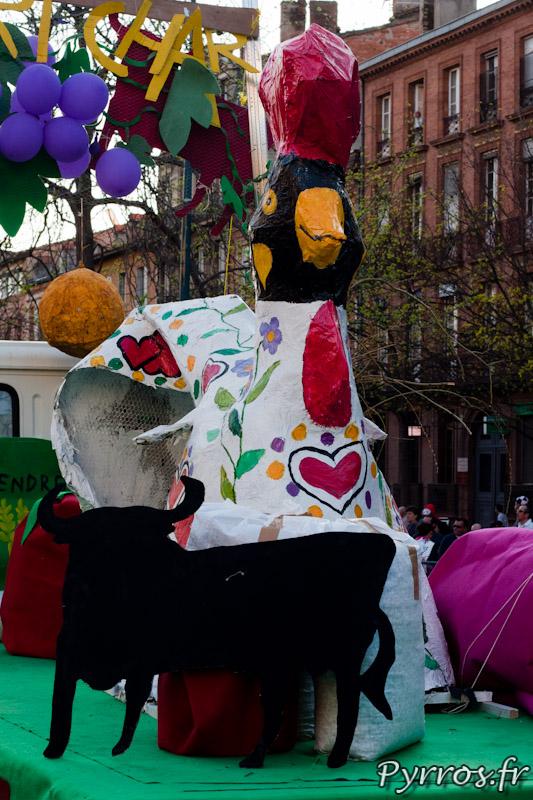 Poule réalisée par les ADL 6-15ans de la ville de Toulouse