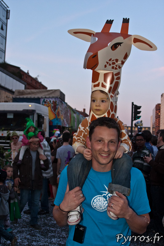 Enfant girafe, Carnaval de Toulouse