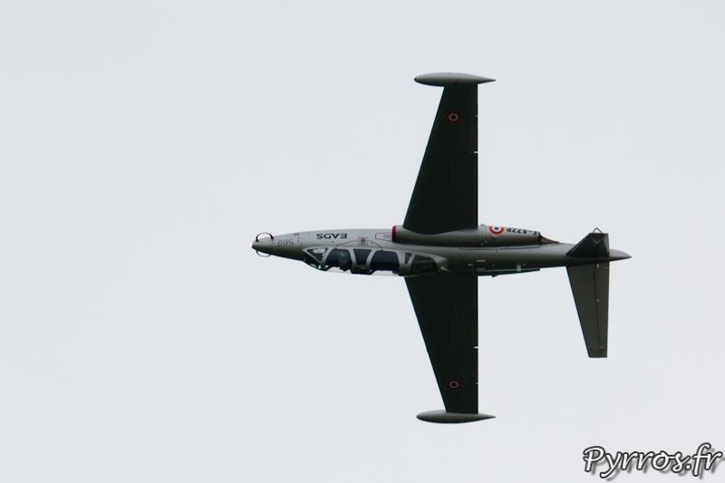 Fouga CM-170 Magister sur le dos a Airexpo 2012