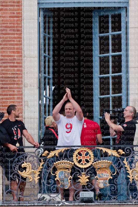 William Servat fait ses adieu en tant que joueurs au public toulousain, Stade Toulousain champion de France 2012
