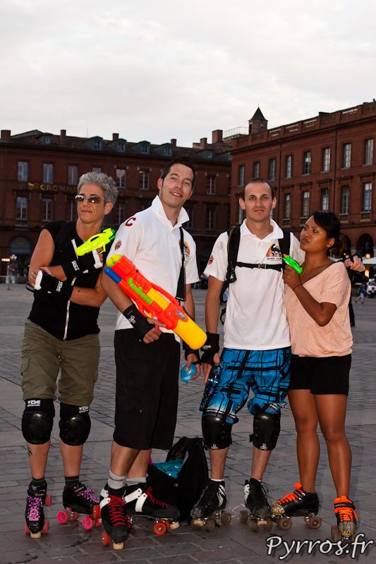 Rando Pistolets à eau de Roulez Rose, Roller Derby Toulouse