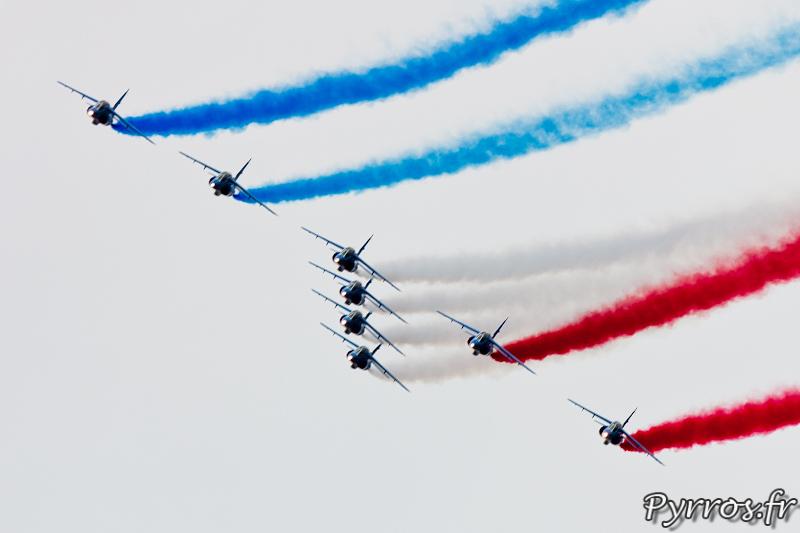 Patrouille de France, Le ruban, formation dard