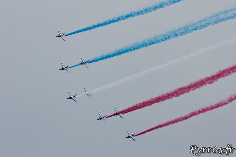Patrouille de France, Le ruban, formation flèche