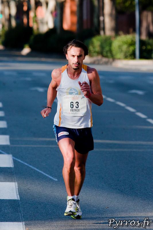 Marathon International de Toulouse Métropole, Patrice dossard 63 supporte encore le tee shirt