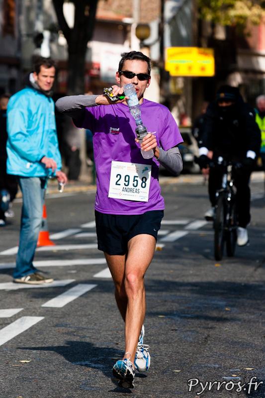 Marathon International de Toulouse Métropole, mélange de boissons