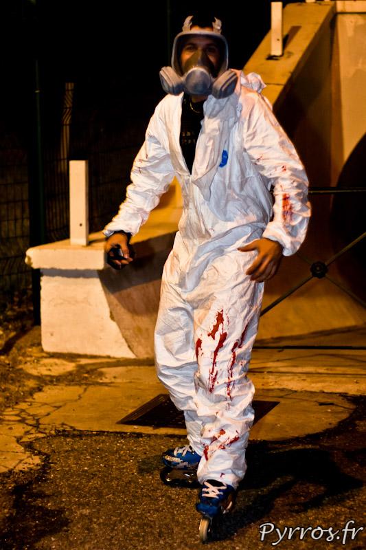 Attaque bacterio-chimique en roller, Roulez Rose Rando'Ween