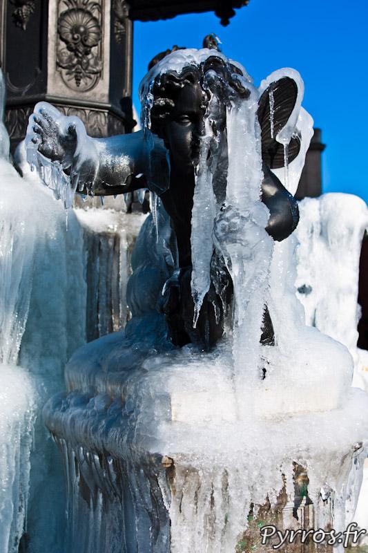 Angelot glacé de la fontaine Olivier