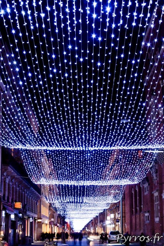 La rue Alsace Lorraine s'est habillée d'un filé lumineux de 800 mètres