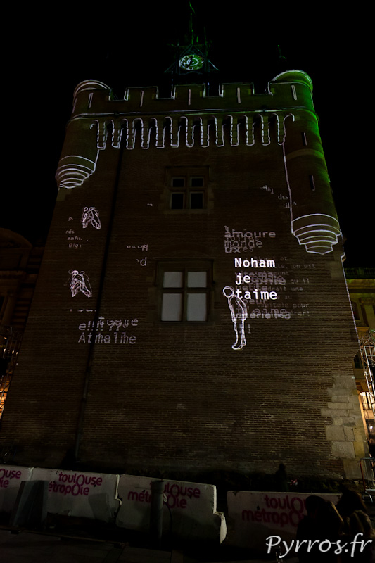 """Les Holons du Donjon par Aymeric Reumaux, Un des SMS envoyés : """"Noham je t'aime"""""""