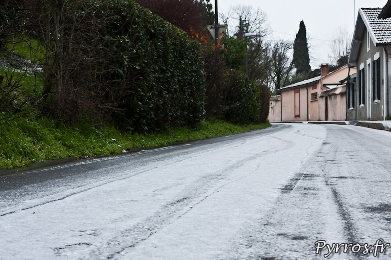 Neige à Toulouse, le 18/01/2013, chausse enneigée