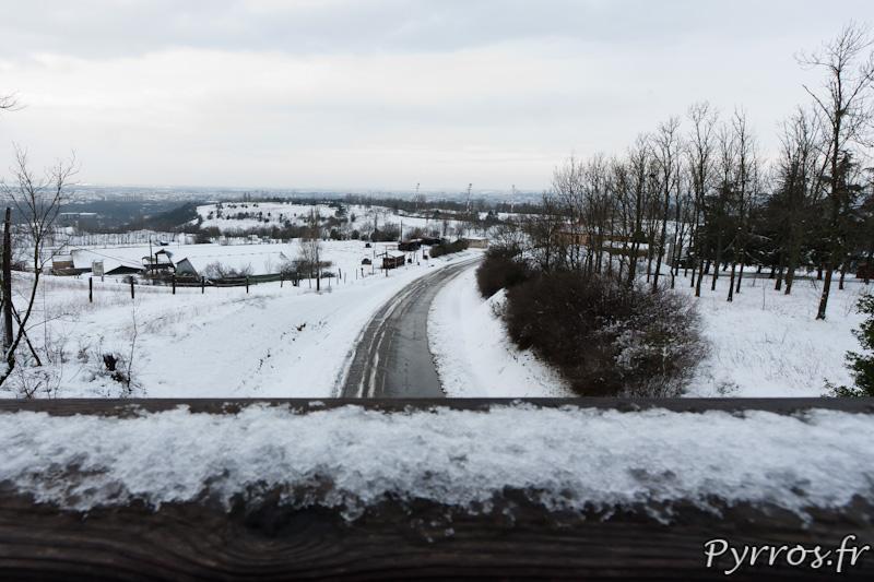 Neige à Toulouse le 20 janvier 2013.