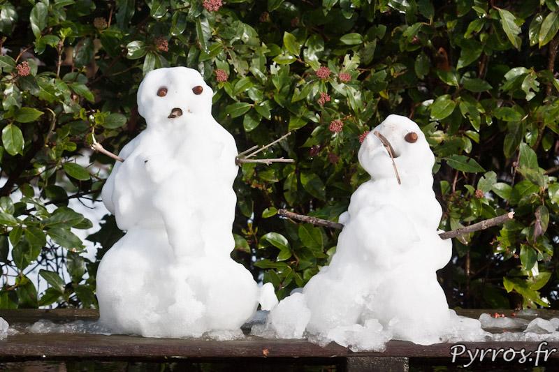 Bonhommes de neige à Toulouse