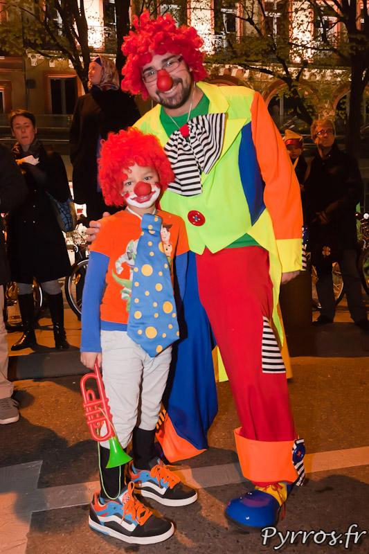 Famille de clown.