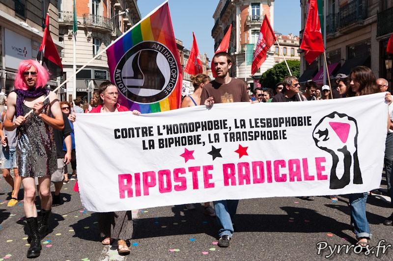 Contre l'homophobie, la lesbophobie, la biphobie, la transphobie
