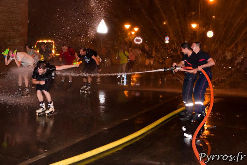 Les pompiers sont surarmés par rapport aux patineurs