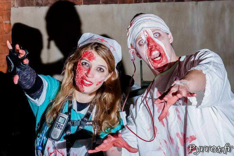 les échappées de la zombie walk à la Randoween, organisée par Roulez Rose