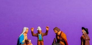 Crèche de Noël une scène de la nativité