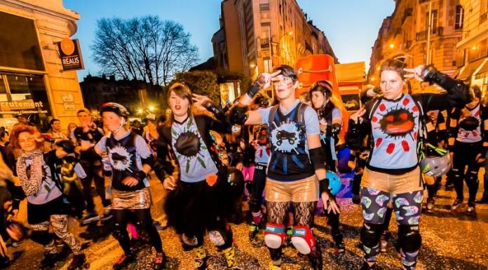 Les filles du Roller Derby de Toulouse avaient préparé de nombreuses chorégraphie en roller pour accompagner leur char et Mr Carnaval