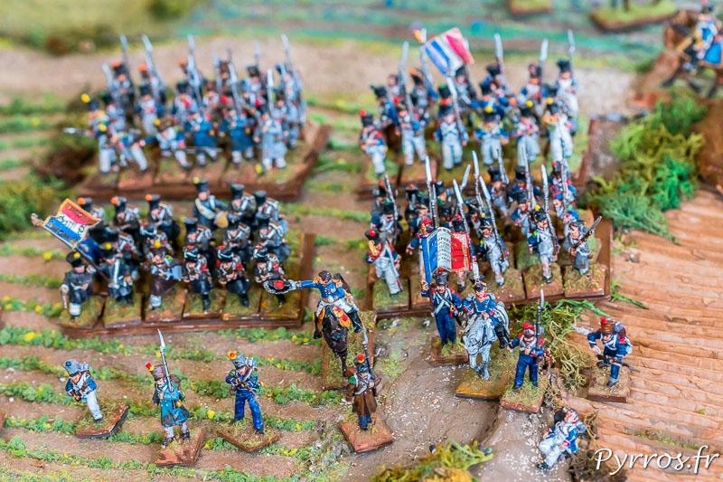 Les troupes françaises contre attaquent les troupes de Wellington