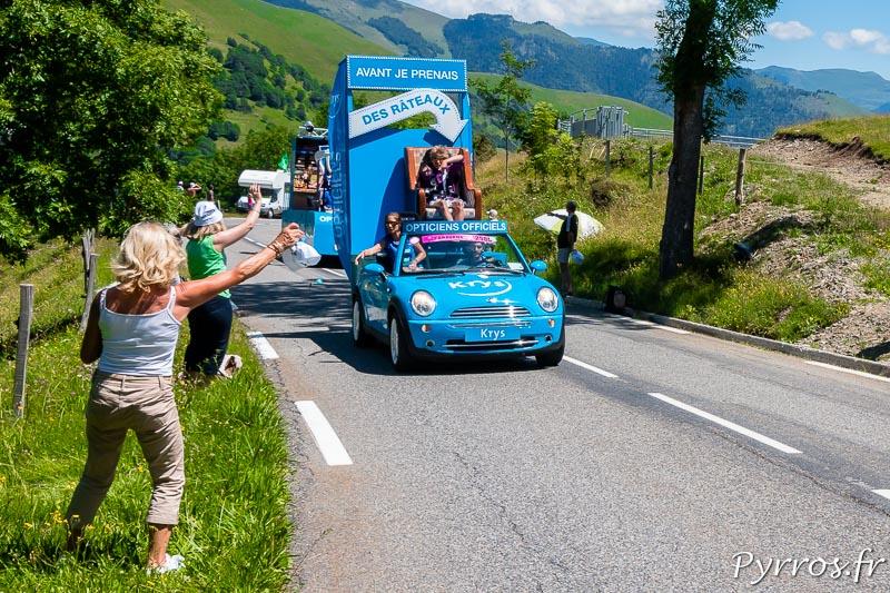 Caravane Publicitaire du Tour de France dans le col de Peyresourde, Kris