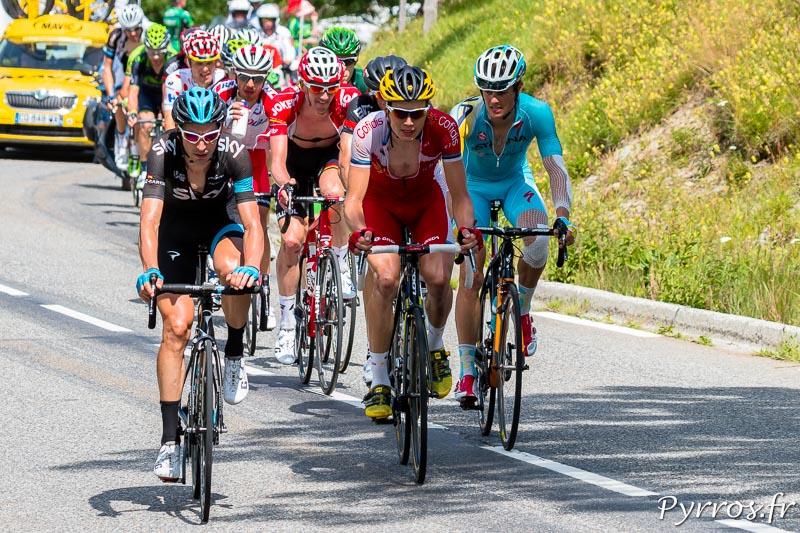 Tour de France dans le col de Peyresourde, Les poursuivants