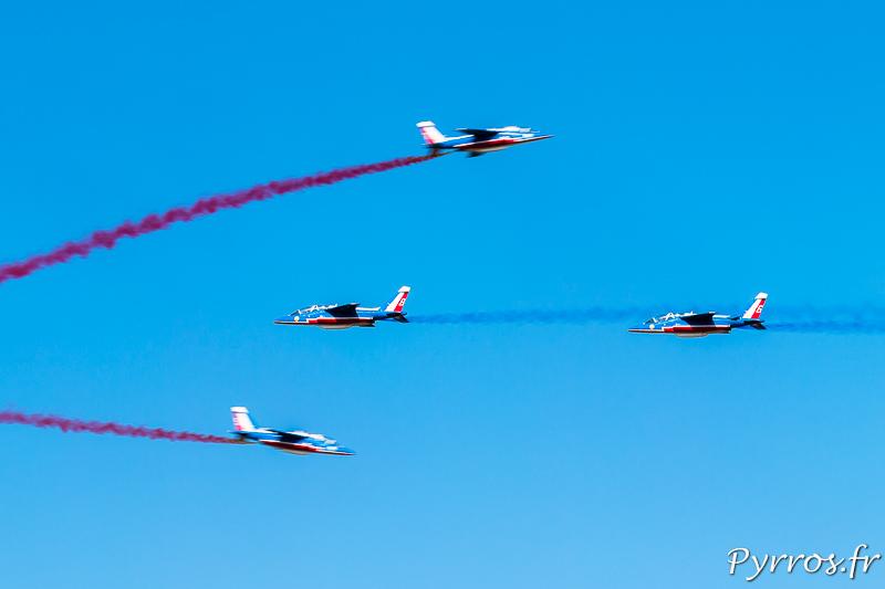 Croisement des pilotes solos (7 et 8) qui amènent les exterieurs (5 et 6)