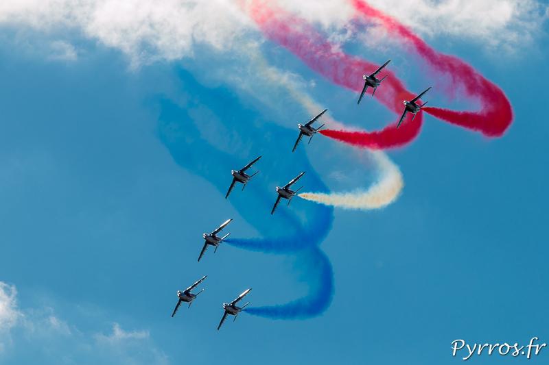 Patrouille de France en formation Jato