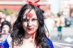 Blanche Neige Zombie, à la Zombies parade de Toulouse