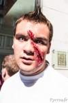 Certains maquillages de zombies à Toulouse font peur à voir