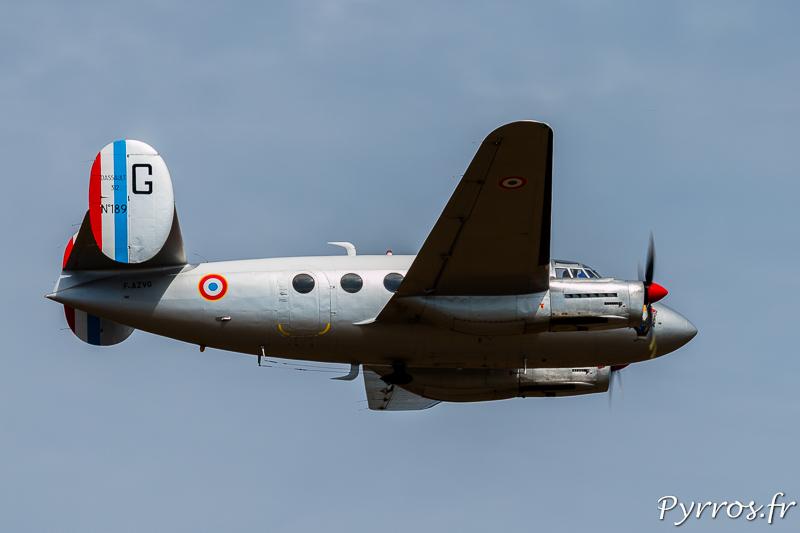 Le Marcel Dassault N°189, vu de dessous