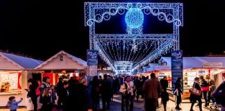 L'entrée du Marché de Noël 2014
