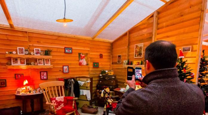 La chambre du Père Noël prise en photo