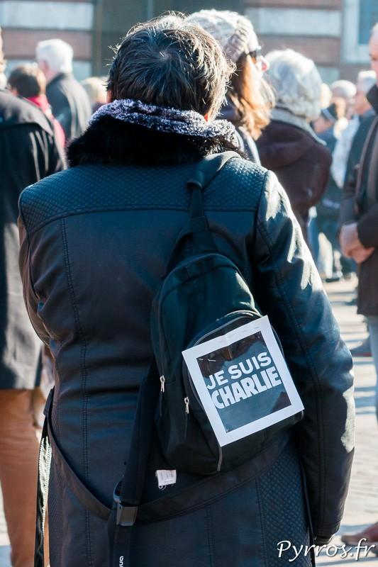 """Sur le sac """"Je Suis Charlie"""""""