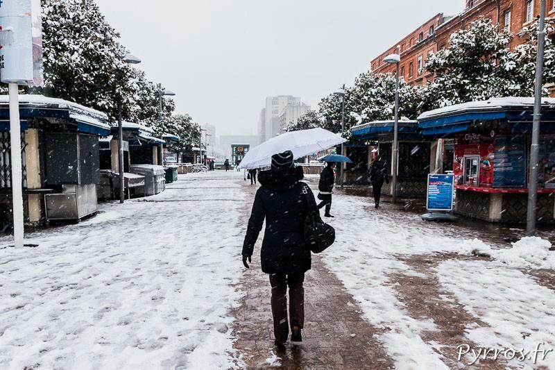 Il a neigé à Toulouse