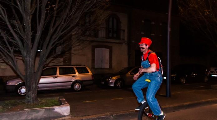 Mario en monocycle, mais il aurait eu besoin d'une étoile pour finir la rando