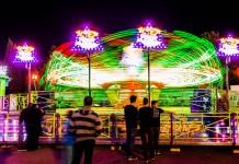 Un manège à sensations pour adultes à la Fête Foraine de Toulouse