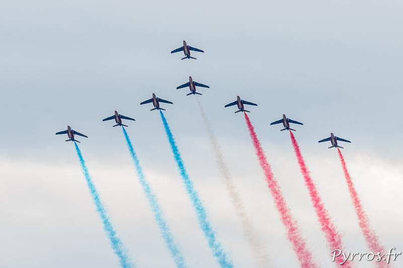 La Patrouille de France en formation très Grande Flèche