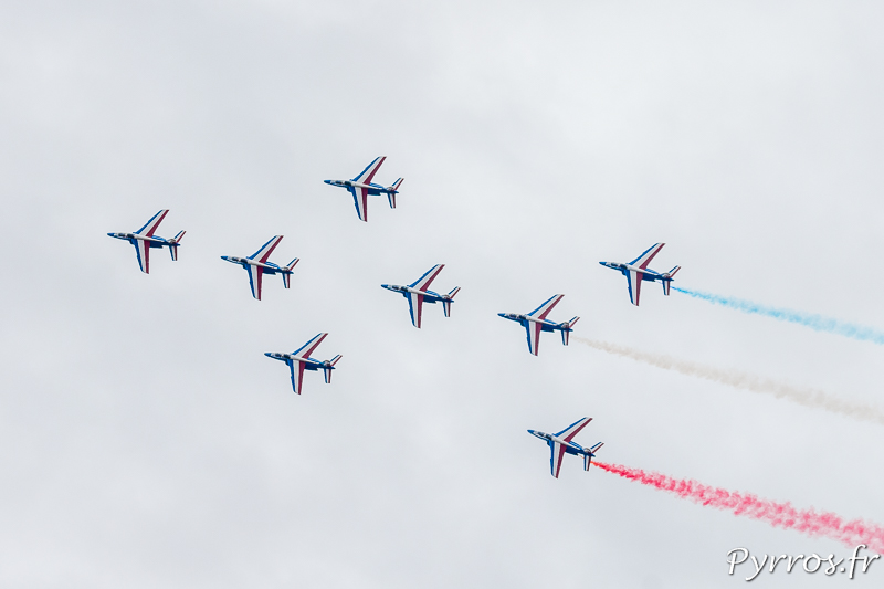 La Patrouille de France en formation Mirage F1