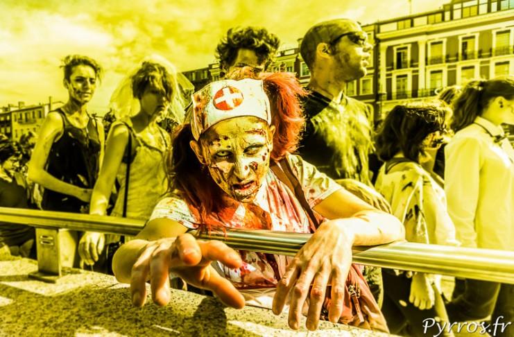 Un ambiance de zombie entre le jaune et le vert avec l'application d'un filtre dégradé