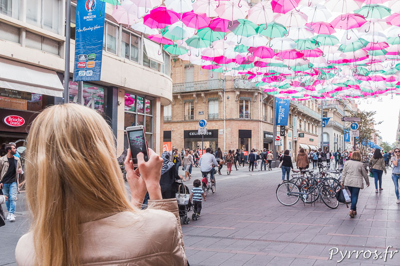 Les parapluies attirent les photographes